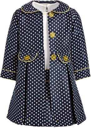 Blueberi Boulevard Toddler Girls Polka Dot Coat Dress