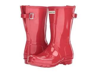 Hunter Back Adjustable Short Gloss Rain Boots