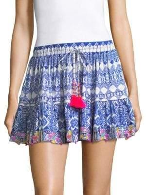 Rococo Sand Beaded Tassel Mini Skirt