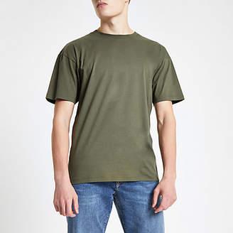 River Island Green oversized short sleeve T-shirt