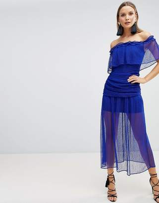 The Jetset Diaries Mesh Ruched Maxi Dress