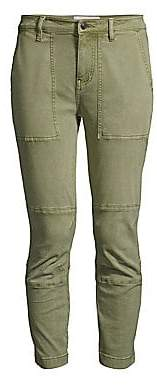 Current/Elliott Women's The Weslan Lace-Up Detail Crop Pants