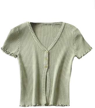 Goodnight Macaroon 'Lunie' Ribbed Knit Top (4 Colors)