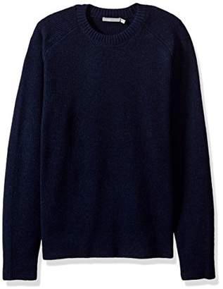 Vince Men's Raglan Sleeve Ribbed Crew Neck Sweater