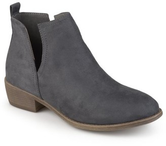 Co Brinley Women's Wide Width Faux Suede Cut-out Round Toe Boots