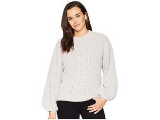 Josie American Rose Cable Knit Sweater