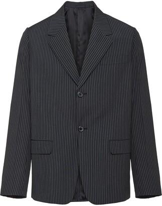 striped boxy blazer