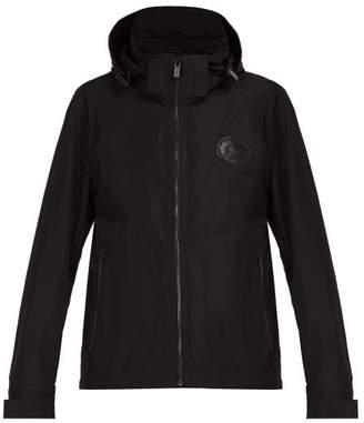 Burberry Hooded Windbreaker Jacket - Mens - Black
