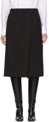 Jil Sander Black Dedalo Wrap Skirt