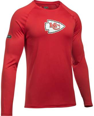 Under Armour Unbranded Men's Red Kansas City Chiefs Combine Authentic Primary Logo Tech Performance Long Sleeve T-Shirt