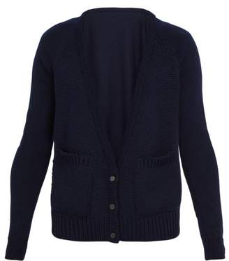Bless Patch Pocket Wool Cardigan - Mens - Navy