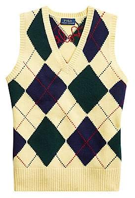 Polo Ralph Lauren Women's Wool & Cashmere Argyle Sweater Vest