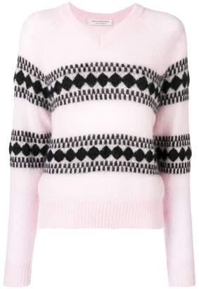 Philosophy di Lorenzo Serafini intarsia knit cardigan