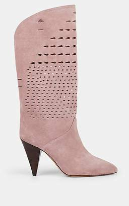 Isabel Marant Women's Lurrey Suede Boots - Lilac