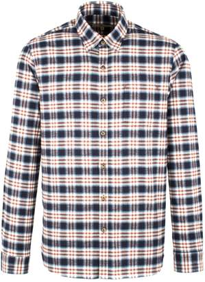 Gibson Men's Navy And Burgundy Long Sleeved Shirt