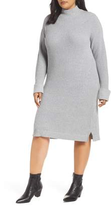 Caslon Ribbed Sweater Dress