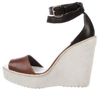 Pierre Hardy Leather Wedge Sandals