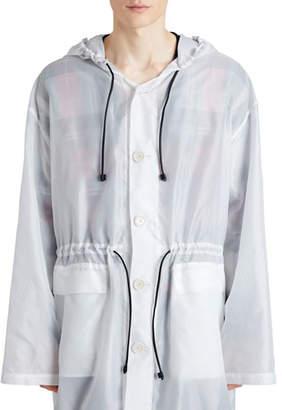 Burberry Hooded Textured Lightweight Parka