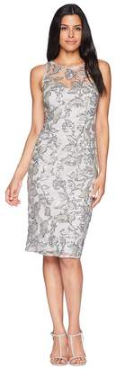 Adrianna Papell Sleeveless Sequin Sheath Cocktail Dress Women's Dress
