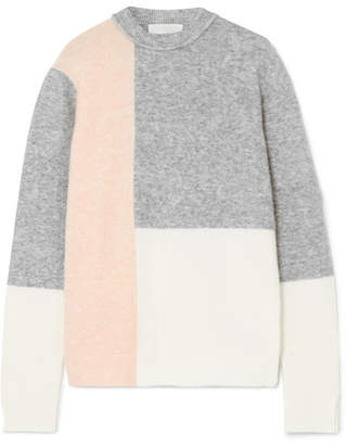 3.1 Phillip Lim Lofty Color-block Knitted Sweater - Gray