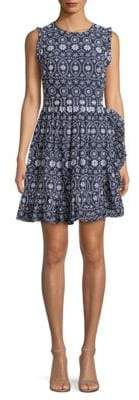 Kate Spade Eyelet Cotton Fit-&-Flare Dress