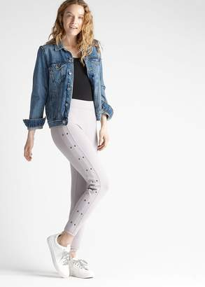Yummie Cotton Stretch Shaping Legging with Grommets