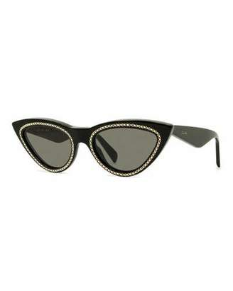 4a8159bb3558 Celine Studded Cat-Eye Acetate Sunglasses