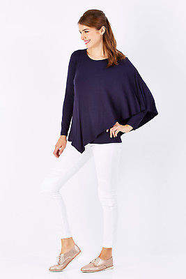 NEW bird by design Womens Tunics The Cape Jersey Top
