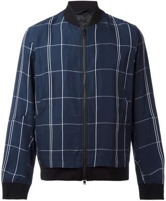 Theory Maxi Check bomber jacket