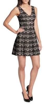 Kensie Dresses V-Back Lace Dress