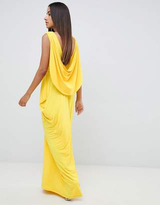 Asos Design DESIGN drape back maxi dress