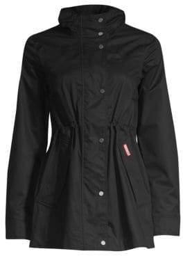 Hunter Women's Original Smock Cotton Jacket - Black - Size Medium