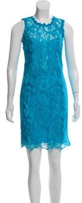 Emilio Pucci Lace Mini Dress Blue Lace Mini Dress