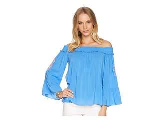 51513b4dec880 Lilly Pulitzer Blue Off Shoulder Women s Tops - ShopStyle