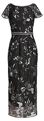 Marchesa Women's Embellished Cap Sleeve Sheath