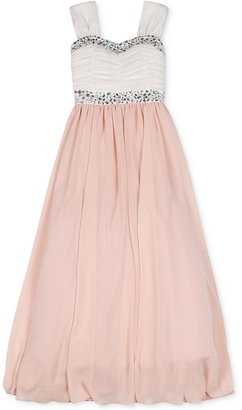 Speechless Girls' Embellished Strappy Maxi Dress $94 thestylecure.com