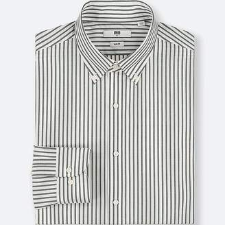 Uniqlo Men's Easy Care Striped Stretch Slim-fit Long-sleeve Shirt
