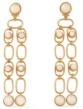 Tory Burch Gold-Tone Faux Pearl Earrings
