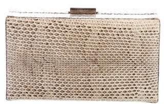 Calvin Klein Snakeskin Box Clutch