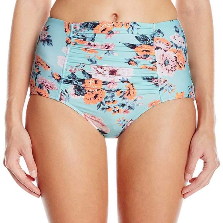 Turquoise Print High Waisted Iceberg Bikini Briefs