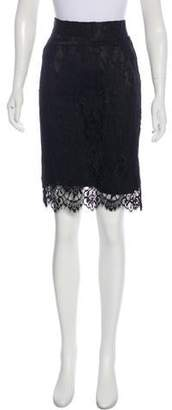 Nili Lotan Lace Knee-Length Skirt