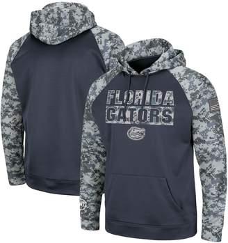Colosseum Men's Charcoal/Camo Florida Gators OHT Military Appreciation Digi Camo Raglan Pullover Hoodie