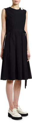 Marni Cotton Poplin Button-Front Dress