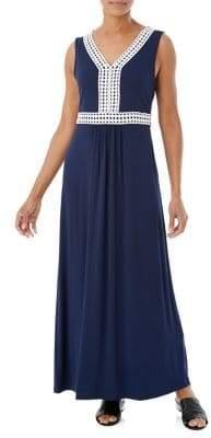 Olsen Contrast Trim Maxi Dress