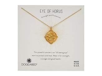 Dogeared Eye of Horus Coin Necklace