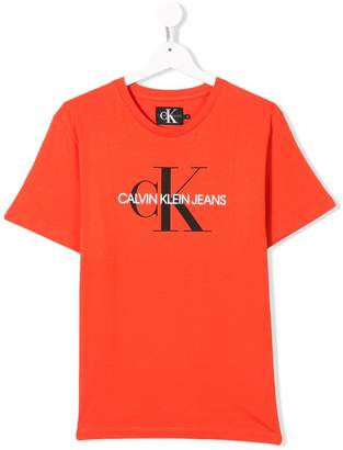 Calvin Klein Kids logo patch T-shirt