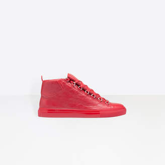 Balenciaga Shiny effect lambskin sneakers with tone-on-tone laces and rubber sole