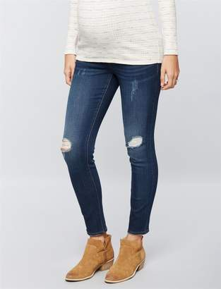 Luxe Essentials Denim Secret Fit Belly Addison Maternity Ankle Jeggings