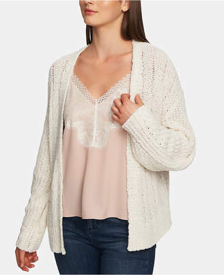 1 STATE 1.state Long-Sleeve Pointelle Open Cardigan