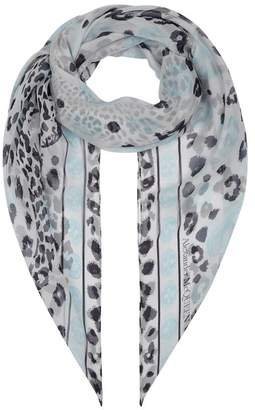 Alexander McQueen Leopard Silk Scarf